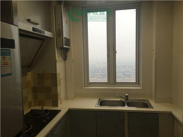 杭州翡翠城出租房厨房照片,翡翠城东边套小户型,拎包入住!带大露台!