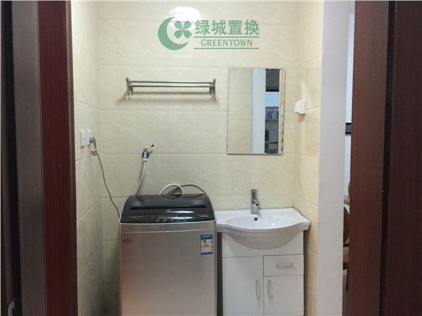 杭州翡翠城灵峰苑出租房卫生间照片,家具家电全部齐全
