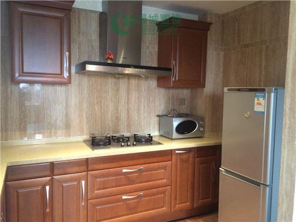 杭州梧桐公寓出租房厨房照片,精装,朝西。租客比较急着转。