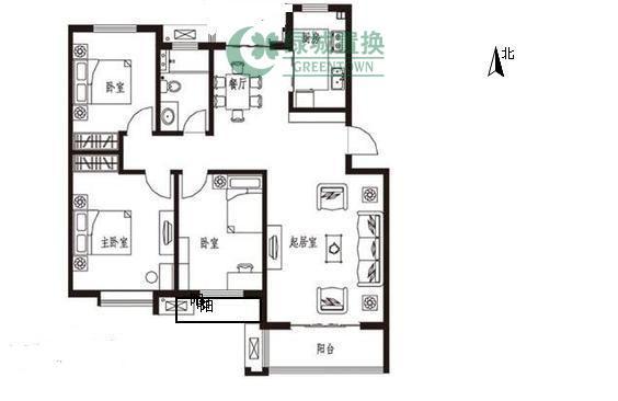 杭州翡翠城梅苑出租房户型图照片,可办公,无家具家电