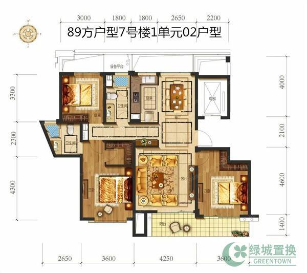 89-3室1厅