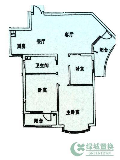 户型:3-2-1(3室2厅1卫),
