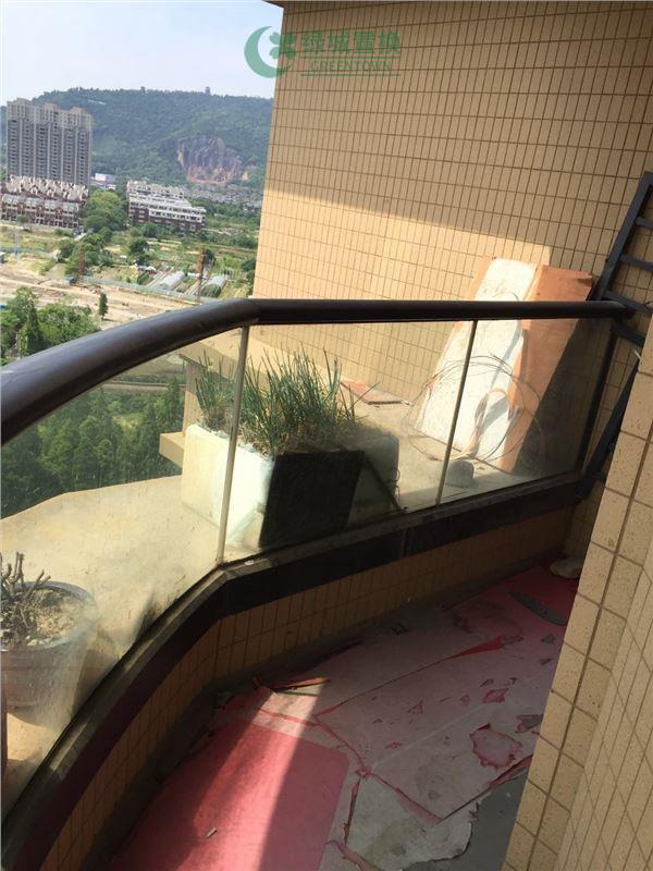 杭州风华苑出租房阳台照片,风华苑 两房精装 家具家电全配