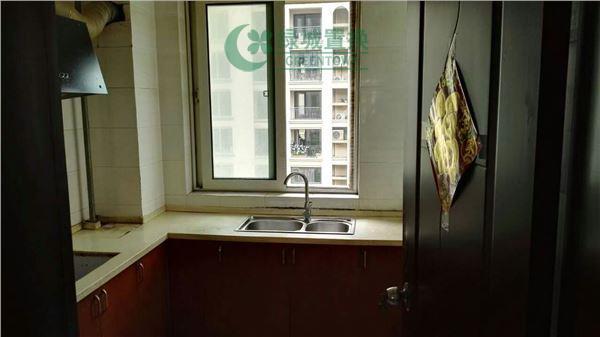 杭州蓝庭花园出租房厨房照片,简装全配  大三房  看房方便