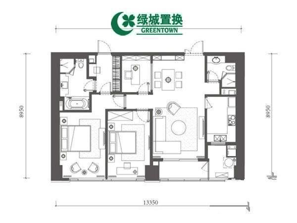 杭州万象城悦玺出租房户型图照片,