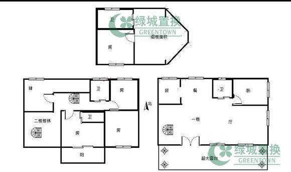 3跃4排屋户型图