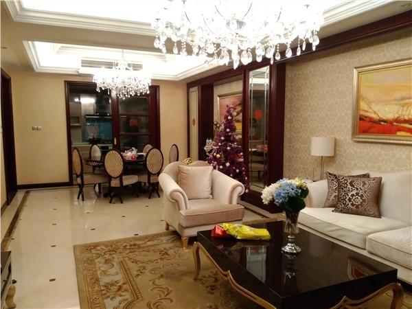 杭州丁香公馆绿开出租房客厅照片,