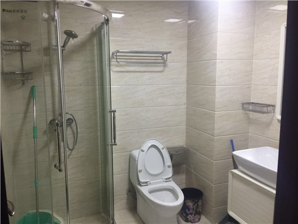 杭州闲林山水出租房卫生间照片,闲林商圈 .闲林山水