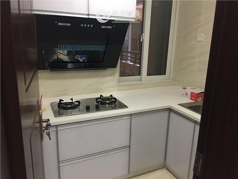 杭州嘉丰万悦城出租房厨房照片,小清新装修,家具家电齐全!