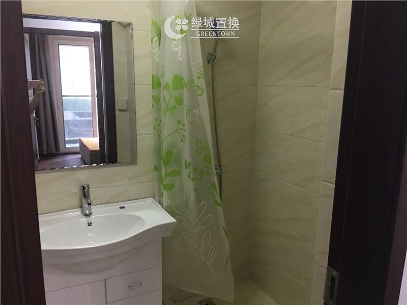杭州嘉丰万悦城出租房卫生间照片,小清新装修,家具家电齐全!