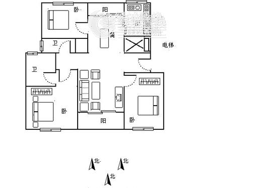 杭州华东园出租房户型图照片,户型好,性价比高,价格低,全明,家具家电