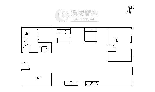 杭州水景城出租房户型图照片,