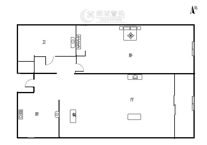 杭州蓝色钱江出租房户型图照片,