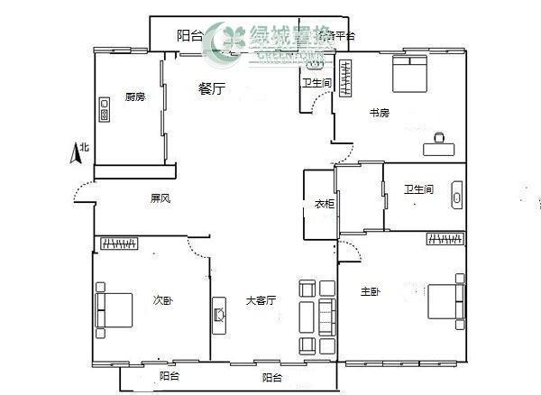 杭州阳光国际出租房户型图照片,