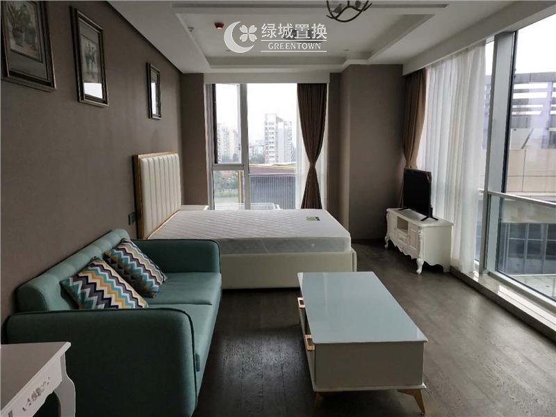 杭州绿城运河郡出租房客厅照片,