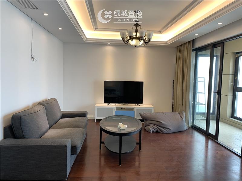 杭州绿地旭辉城出租房客厅照片,