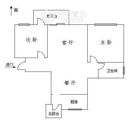 杭州翡翠城绿萝苑出租房户型图照片,