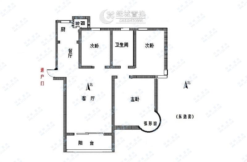 杭州郁金香岸出租房户型图照片,家具家电齐全 拎包入住