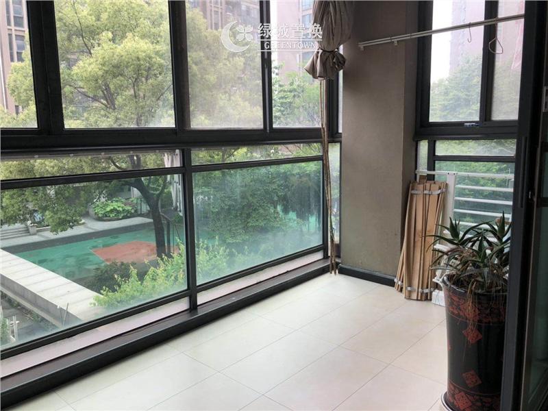 杭州锦昌文华出租房阳台照片,精装修