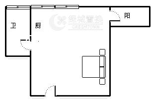 杭州深蓝广场西楼出租房户型图照片,精装拎包入住