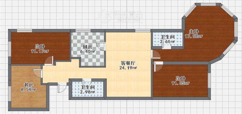杭州之江时代中心出租房户型图照片,