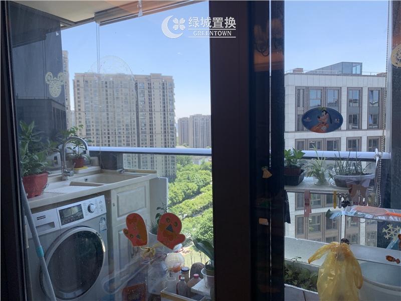 杭州望江府出租房阳台照片,诚心出租 看房提前约