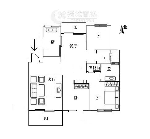 杭州翡翠城云竹苑出租房户型图照片,自住精装修,小区中心位置,拎包入住