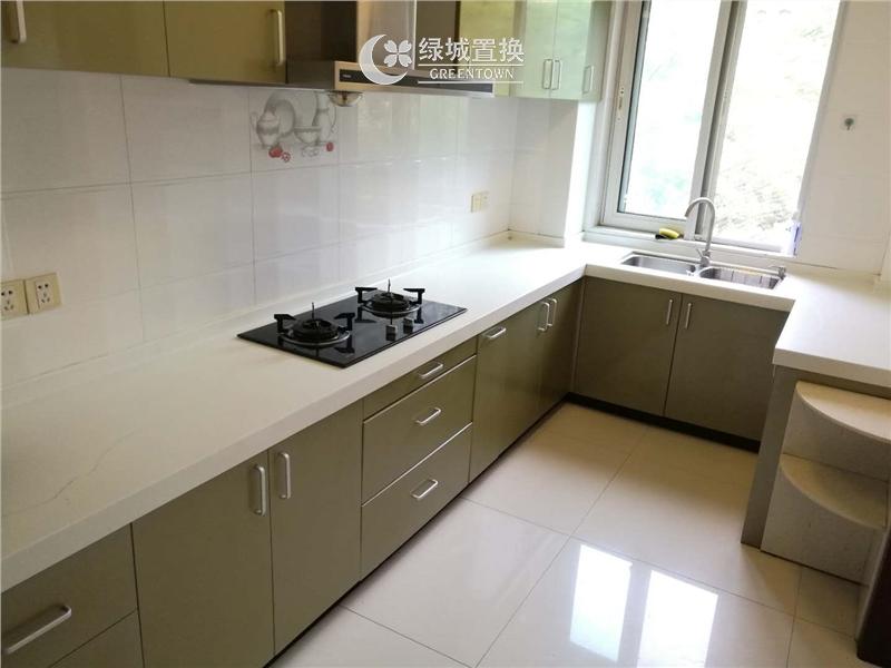 杭州翡翠城云竹苑出租房厨房照片,自住精装修,小区中心位置,拎包入住