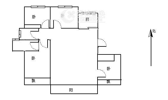 杭州景瑞天赋出租房户型图照片,