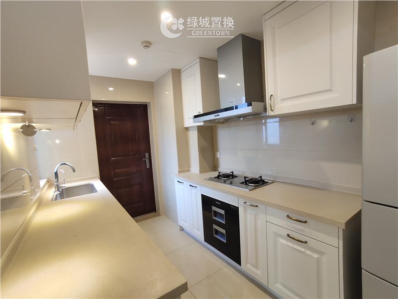 杭州绿地旭辉城出租房厨房照片,精装修,家具家电齐全,拎包入住