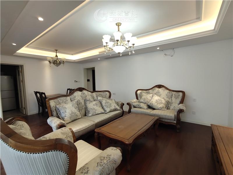 杭州绿地旭辉城出租房客厅照片,精装修,家具家电齐全,拎包入住